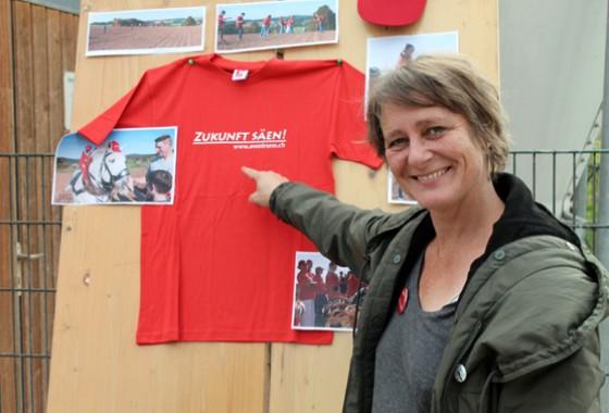Freute sich schon auf die Aktion am Nachmittag: Stefanie Krecek, Koordinatorin der tegut… Saisongärten