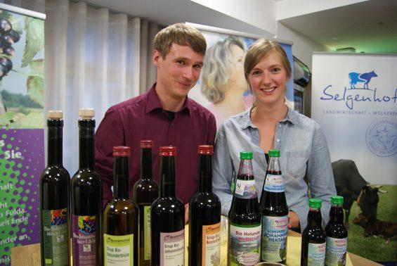 Phillip Hütsch und Verena Mathes zeigten, was die Beerenobstgemeinschaft drauf hat. Bild: Christiane Hartung