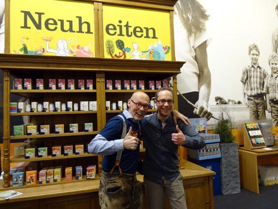 Hannes Gutmann von Sonnentor verbreitet immer gute Laune. Bild: Jens Brehl CC BY-NC-SA 4.0