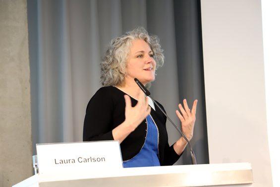 Solawi ist bald kein Nischenthema mehr, war sich Laura Carlson (TU München) sicher. – Bild: Jens Brehl CC BY-NC-SA 4.0