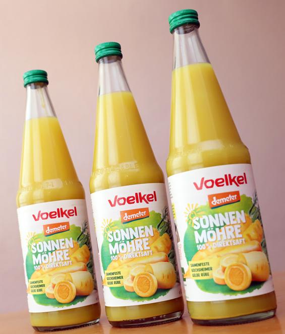 Drei Flaschen Gochsheimer Gelbe Rübe Direktsaft