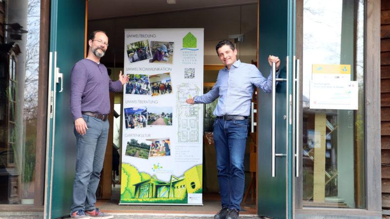 Alexander Sust und Timo Heumüller vom Umweltzentrum Fulda