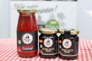Ketchup und Knoblauchpaste von Münchner Kindl Senf